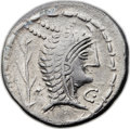 Ancients:Celtic, Ancients: CENTRAL EUROPE. The Eravisci. Ca. 1st century BC. ARdenarius (19mm, 3.66 gm, 3h). ...