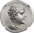 Ancients:Greek, Ancients: GRECO-BACTRIAN KINGDOM. Eucratides I the Great (ca.170-145 BC). AR tetradrachm (33mm, 16.88 gm, 11h)....