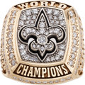 Football Collectibles:Others, 2009 New Orleans Saints NFL Super Bowl Championship Ring Presented to WR Lance Moore....