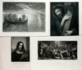 """Books:Prints & Leaves, [Engraved Illustration] Lot of Four Antique Engraved IllustrationsWith Religious Themes. 11"""" x 8"""", in both portrait and lan..."""