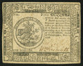 Colonial Notes:Continental Congress Issues, Continental Currency November 2, 1776 $5 Very Fine-Extremely Fine.. ...