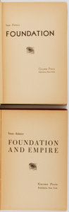 Books:Science Fiction & Fantasy, Isaac Asimov. Two Works of Science Fiction, One Being a First Edition. Includes: Foundation. Later edition. [and:] Fou... (Total: 2 Items)