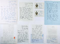 Autographs:Authors, Large Archive of Correspondence From British Writer and EditorFrancis Wyndham to Noted American Book Collector Rolland Comsto...