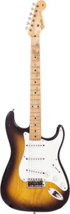 Musical Instruments:Electric Guitars, 1955 Fender Stratocaster Sunburst Solid Body Electric Guitar,Serial # 8147. ...