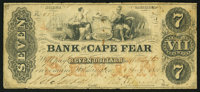 Wilmington, NC- The Bank of Cape Fear $7 Aug. 1, 1853 G99a