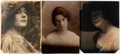 """Photography:Studio Portraits, Jesse T. Banfield, photographer. Three Silver Print Photographic Portraits. Each approximately 6"""" x 8"""". Mounting remnants on... (Total: 3 Items)"""