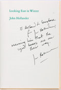 Autographs:Authors, American Poet John Hollander Typed Poem Inscribed to Noted Book Collector Rolland Comstock. Hollander has inscribed a copy o...
