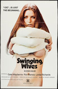 "Movie Posters:Sexploitation, Swinging Wives (Burbank International, 1973). One Sheet (27"" X 42"")& Photos (4) (8"" X 10""). Sexploitation.. ... (Total: 5 Items)"