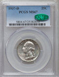 Washington Quarters, 1937-D 25C MS67 PCGS. CAC....