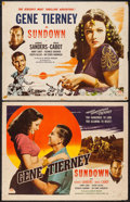 """Movie Posters:War, Sundown (Masterpiece Productions, R-1948). Half Sheets (2) (22"""" X28"""") Styles A & B. War.. ... (Total: 2 Items)"""