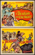 "Movie Posters:Adventure, A Thousand and One Nights (Columbia, 1945). Half Sheets (2) (22"" X28"") Styles A & B. Adventure.. ... (Total: 2 Items)"