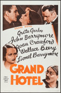 "Movie Posters:Academy Award Winners, Grand Hotel (MGM, R-1962). One Sheet (27"" X 41""). Academy Award Winners.. ..."