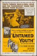 """Movie Posters:Exploitation, Untamed Youth (Warner Brothers, 1957). One Sheet (27"""" X 41""""). Exploitation.. ..."""