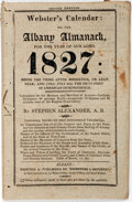 Books:Americana & American History, Stephen Alexander. Webster's Calendar: or, the Albany Almanackfor the Year of Our Lord 1827. Websters and Skinn... (Total: 3Items)