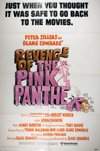 """[Movie Posters]. Group of Three One Sheet Comedy Posters. 41"""" x 27"""". Includes Revenge of the Pink Panther, Spl..."""