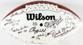 Autographs:Celebrities, [Dallas Cowboys]. Tony Dorsett, Mel Renfro, Gil Brandt, RayfieldWright, Bob Lilly, Billy Joe Dupree, and many others. Footbal...