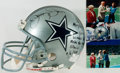 "Autographs:Celebrities, [Dallas Cowboys]. Jerry Jones. Dallas Cowboys Football HelmetInscribed and Signed by Jones to the ""Voice of Texas Stadium,"" M..."