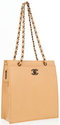 Luxury Accessories:Accessories, Chanel Tan Leather Day Bag. ...