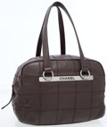 Luxury Accessories:Accessories, Chanel Chocolate Leather Flat Stitch XXL Day Bag . ...