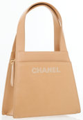 Luxury Accessories:Bags, Chanel Beige Lambskin Leather Small Day Bag. ...