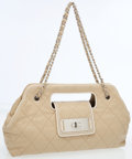 Luxury Accessories:Accessories, Chanel Beige and White XXL Cutout East West Bag. ...