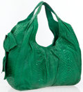 Luxury Accessories:Bags, Valentino Green Python Large Hobo Bag. ...