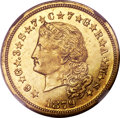 Proof Four Dollar Gold Pieces, 1879 $4 Flowing Hair, Judd-1635, Pollock-1833, R.3, PR58+ NGC....