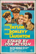 "Movie Posters:War, Stand By for Action (MGM, 1943). One Sheet (27"" X 41"") Style C.War.. ..."