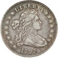 Early Dollars, 1795 $1 Draped Bust, Centered XF40 ANACS. B-15, BB-52, R.2....