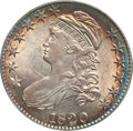 Bust Half Dollars, 1820 50C Square Base No Knob 2, Large Date MS62 PCGS. O-106,R.1....