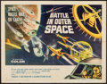 "Movie Posters:Science Fiction, Battle in Outer Space (Columbia, 1960). Half Sheet (22"" X 28"").Science Fiction.. ..."
