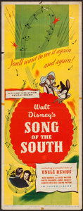 """Movie Posters:Animation, Song of the South (RKO, 1946). Insert (14"""" X 36""""). Animation.. ..."""