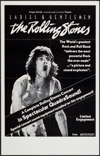 """Ladies and Gentlemen: The Rolling Stones (Dragon Aire, 1973). Poster (24.5"""" X 38"""") QuadraSound Style. Rock and..."""