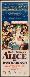 "Movie Posters:Animation, Alice in Wonderland (RKO, 1951). Insert (14"" X 36""). Animation....."