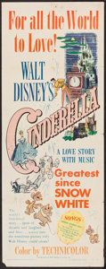 "Movie Posters:Animation, Cinderella (RKO, 1950). Insert (14"" X 36""). Animation.. ..."