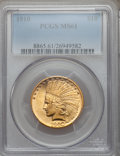 Indian Eagles: , 1910 $10 MS61 PCGS. PCGS Population (585/3053). NGC Census:(1461/3800). Mintage: 318,500. Numismedia Wsl. Price for proble...