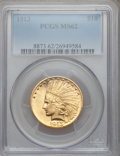 Indian Eagles: , 1913 $10 MS62 PCGS. PCGS Population (1698/1118). NGC Census:(1901/1181). Mintage: 442,071. Numismedia Wsl. Price for probl...