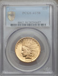 Indian Eagles: , 1909 $10 AU58 PCGS Secure. PCGS Population (412/1273). NGC Census:(419/1459). Mintage: 184,700. Numismedia Wsl. Price for ...