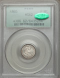Seated Half Dimes: , 1865 H10C MS62 PCGS. CAC. PCGS Population (9/34). NGC Census: (3/36). Mintage: 13,000. Numismedia Wsl. Price for problem fr...