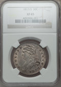 Bust Half Dollars: , 1817/3 50C XF45 NGC. NGC Census: (18/64). PCGS Population (25/65).Numismedia Wsl. Price for problem free NGC/PCGS coin in...