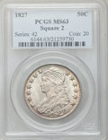 Bust Half Dollars, 1827 50C Square Base 2 MS63 PCGS. O-114, R.3....