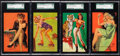 "Non-Sport Cards:Lots, 1940's Mutoscope ""Artist's Pin Ups"" SGC 88 NM/MT 8 Group (4). ..."