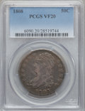 Bust Half Dollars: , 1808 50C VF20 PCGS. PCGS Population (32/552). NGC Census: (19/423).Mintage: 1,368,600. Numismedia Wsl. Price for problem f...