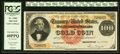 Large Size:Gold Certificates, Fr. 1204 $100 1882 Gold Certificate PCGS Extremely Fine 40PPQ.. ...