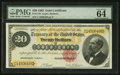 Large Size:Gold Certificates, Fr. 1178 $20 1882 Gold Certificate PMG Choice Uncirculated 64 EPQ.....
