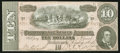 Confederate Notes:1864 Issues, T68 $10 1864 PF-21 Cr. 547.. ...