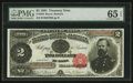Large Size:Treasury Notes, Fr. 358 $2 1891 Treasury Note PMG Gem Uncirculated 65 EPQ.. ...