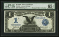 Large Size:Silver Certificates, Fr. 229a $1 1899 Silver Certificate PMG Gem Uncirculated 65 EPQ.....
