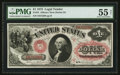 Large Size:Legal Tender Notes, Fr. 24 $1 1875 Legal Tender PMG About Uncirculated 55 Net.. ...