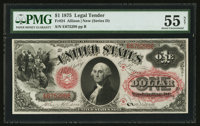 Fr. 24 $1 1875 Legal Tender PMG About Uncirculated 55 Net